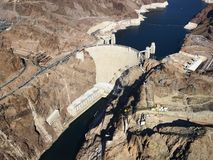 Hoover Dam, Lake Mead. Stock Image
