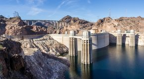 Hoover Dam between Lake Mead and the Colorado River royalty free stock photos