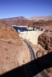Hoover Dam, Lake Mead and highway Stock Image