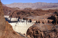 Hoover Dam, Lake Mead and highway Royalty Free Stock Photos