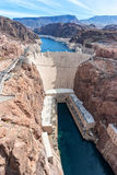 Hoover Dam and Lake Mead. From the Highway 93 bridge Stock Photography