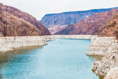 Hoover dam and Lake Mead Stock Photography