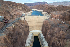 Hoover dam and Lake Mead in Las Vegas area Royalty Free Stock Photos
