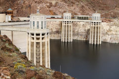Hoover dam. At Lake Mead in Nevada Stock Image