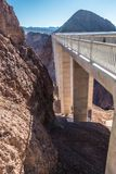 Hoover dam on lake mead in nevada and arizona stateline royalty free stock photos