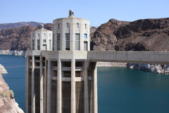 Hoover Dam and Lake Mead Power Station USA Stock Images