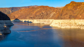 Hoover Dam Lake Mead. The Hoover Dam is situated on the Colorado river on the Arizona, Nevada Border Stock Images