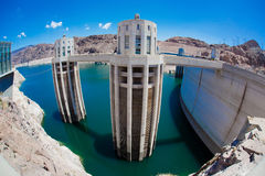 The Hoover Dam and Lake Mead Stock Photo