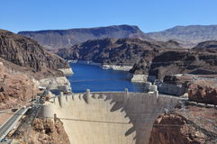 Hoover Dam and Lake Mead. View over the desert Stock Image
