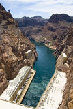 Hoover Dam at Lake Powell. In Nevada Stock Photo