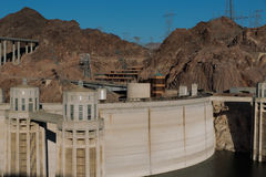 Hoover Dam. Las Vegas, NV, USA - May 9, 2016: Vistas of Hoover Dam, Lake Mead and the Mike O'Callaghan–Pat Tillman Memorial Bridge located near to Las Vegas stock photo
