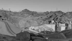 Hoover Dam. Las Vegas, NV, USA - May 9, 2016:  Vistas of Hoover Dam, Lake Mead and the Mike O'Callaghan–Pat Tillman Memorial Bridge located near to Las Vegas Stock Photos