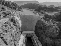 Hoover Dam. Las Vegas, NV, USA - May 9, 2016: Vistas of Hoover Dam, Lake Mead and the Mike O'Callaghan–Pat Tillman Memorial Bridge located near to Las Vegas stock image