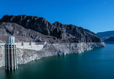 Hoover Dam. Las Vegas, NV, USA - May 9, 2016: Vistas of Hoover Dam, Lake Mead and the Mike O'Callaghan–Pat Tillman Memorial Bridge located near to Las Vegas royalty free stock photos