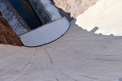 Hoover Dam, a massive hydroelectric engineering landmark located on the Nevada and Arizona border Stock Photo