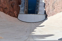 Hoover Dam, a massive hydroelectric engineering landmark located on the Nevada and Arizona border Royalty Free Stock Photos