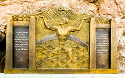 Hoover Dam Memorial. Large memorial found at the site of the Hoover Dam in Arizona/Nevada. Remembering those who lost their lives in the construction of the Dam Royalty Free Stock Photography