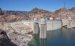 Hoover Dam And The Mike O`Callaghan - Pat Tillman Bridge Stock Photos