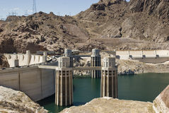 The Hoover Dam in Nevada. And Arizona royalty free stock photos