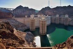 Hoover dam Nevada Arozina. Famous Hoover dam in USA. California Nevada Stock Image