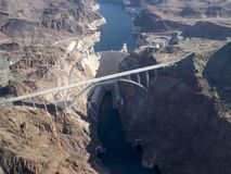 Hoover Dam, Nevada seen from helicopter stock images