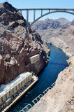 Hoover Dam, Nevada, USA. Hoover Dam, once known as Boulder Dam, is a concrete arch-gravity dam in the Black Canyon of the Colorado River, on the border between Stock Images