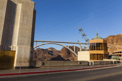 Hoover Dam and new bridge in Boulder City, NV on May 13, 2013 Stock Images