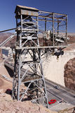 Hoover Dam Old Tower Royalty Free Stock Photography