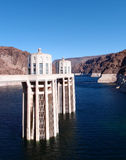 Hoover Dam. Once known as Boulder Dam, is a concrete arch-gravity dam in the Black Canyon of the Colorado River, on the border between the US states of Arizona Royalty Free Stock Photos