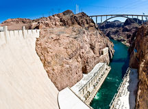 Hoover Dam panorama Royalty Free Stock Photos