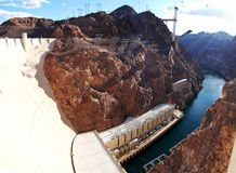 Hoover Dam Panorama Royalty Free Stock Photography