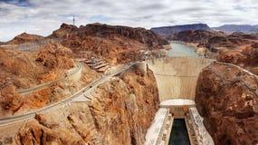 Hoover Dam Panoramic, Nevada Royalty Free Stock Photo