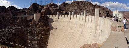 Hoover Dam - panoramic Stock Photography