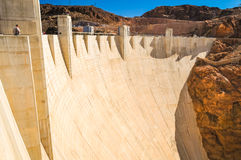 Hoover Dam. Person standing by hoover dam Royalty Free Stock Images
