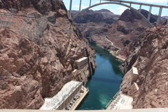 Hoover dam. Picture of the hoover dam at the Colorado river  in nevada arizona with turbine Royalty Free Stock Photography