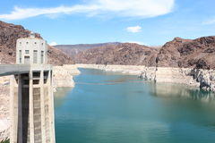 Hoover dam. Picture of the hoover dam at the Colorado river  in nevada arizona with turbine Stock Photos
