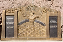 Hoover Dam plaque. Honoring those who built it Royalty Free Stock Photos