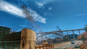 Hoover Dam. Power electricity road Stock Photo