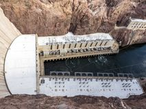 Hoover Dam Power Plan downstream - Arizona, AZ Royalty Free Stock Photos