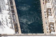 Hoover dam power plant Stock Photos