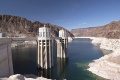 Hoover Dam hydroelectric power plant  Stock Photos