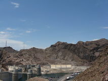 Hoover Dam. Scenic view of Hoover Dam, Black Canyon, Colorado River, Arizona and Nevada, U.S.A Royalty Free Stock Photos