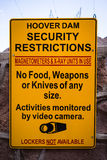 Hoover Dam Security Warning Stock Images