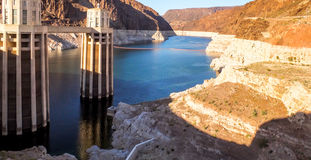 Hoover Dam. The Hoover Dam is situated on the Colorado river on the Arizona, Nevada Border Stock Image
