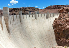 Hoover Dam in sunny day Royalty Free Stock Photos