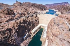 Hoover dam on sunny day,Nevada,usa. royalty free stock image