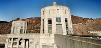 Hoover Dam. Time changes in a second Stock Photo