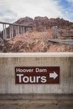 Hoover Dam Tour Sign Stock Photos