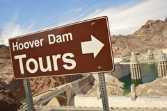 Hoover Dam Tours Royalty Free Stock Image