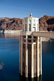 Hoover Dam Towers on Colorado River, Lake Mead Stock Photography